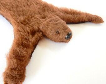 Miniature Bear Rug - Handmade - dollhouse rug