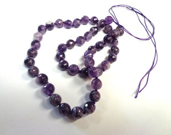 12mm Smooth Amethyst Strand. For jewelry making.
