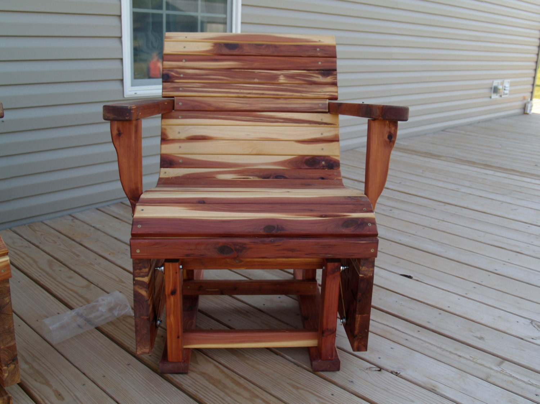 Glider Outdoor Patio Furniture Eucalyptus Wood Glider