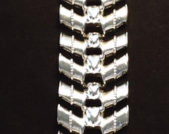 "Vintage ""Silver"" Metal Cuff Bracelet"