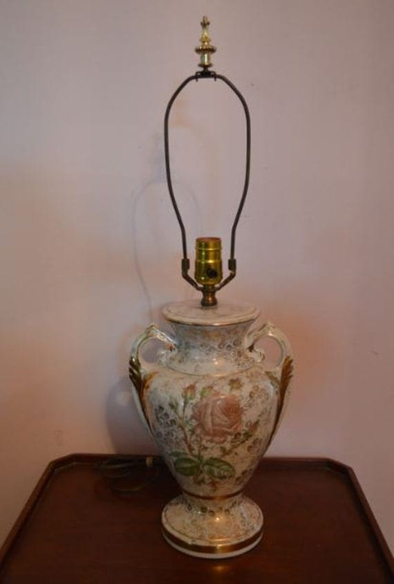 vintage ceramic lamps vintage porcelain with gold handle table lamp 3169