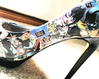Catwoman design comic book heels