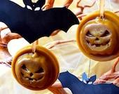 Halloween wax melts Halloween decoration pumpkin ornament Halloween decor party thanksgiving gift beeswax melt tarts fall halloween candles
