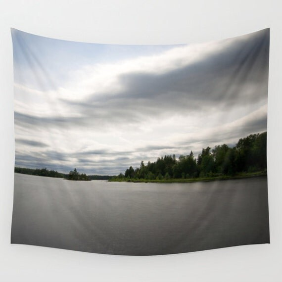 Wall Tapestry, Nature Photography, Large Wall Art, Indoor Wall Hanging, Outdoor Decor, Long Exposure, Lake Images, Boundary Waters, BWCA
