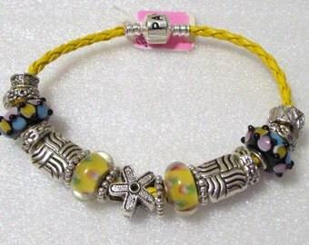 762 - Black & Yellow Bracelet