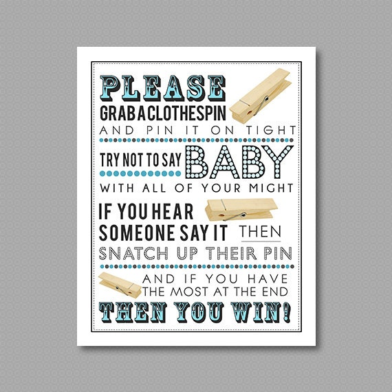 blue clothespin game printable for baby shower without bow ties 5x7