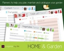 Ideal GARDEN PLANNER. Digital files, download & print. Planting planner, task planner, seasonal planner, flower fruit and vegetable planner