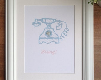 Vintage collection - Brring! Telephone print