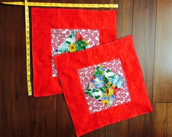 Christmas table placemat two measures 16 inch x 16 inch
