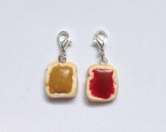 PB & J CHARMS // friendship charms for the food lovers