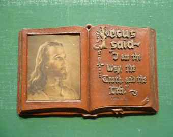 Vintage Bible Verse Plaque Wall Hanging Christ Religious Wall Art Biblical Christian