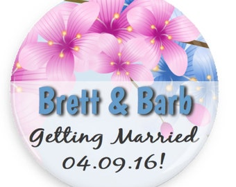"""1"""" Magnet Wedding Save The Date"""