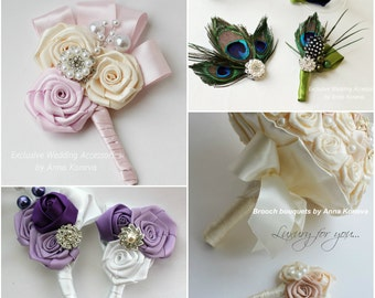 Wedding boutonniere Buttonhole Wedding boutineer Groom groomsmen weddings boutineer father of the bride for the Brooch Bouquet