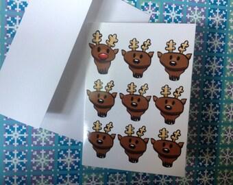 Cute Reindeer Holiday Cards