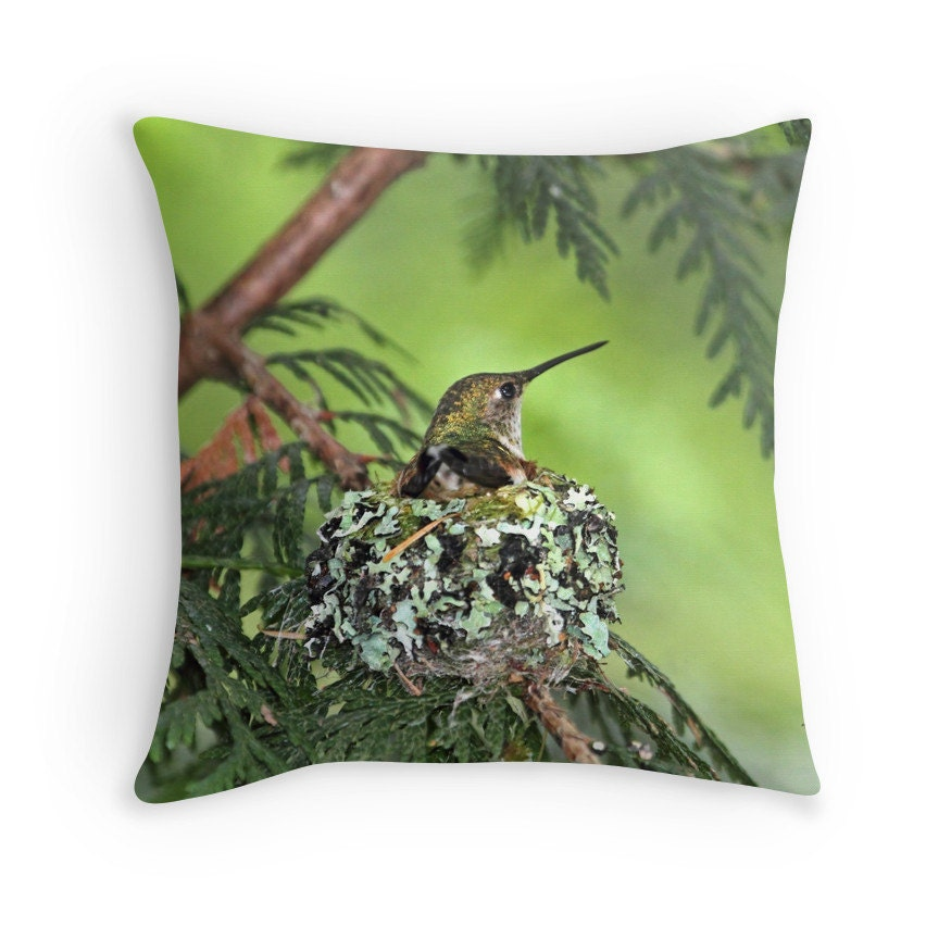 Hummingbird cushion hummingbird decor bird cushion for Hummingbird decor