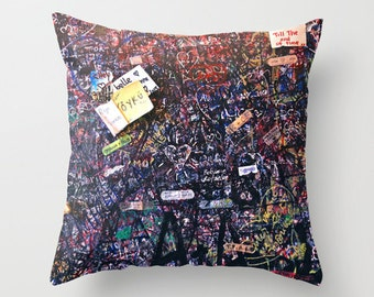 Graffiti Pillow - Velveteen Pillow - Italy Pillow - Verona Love Letters - Graffiti Pillow - Teen Pillow - Girls Pillow - Teen Decor