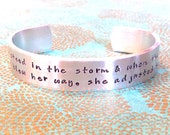 Inspirational Gift | Stay Strong Gift |She stood in the storm & when the wind did not blow her way, she adjusted her sails MadeByMishka.com