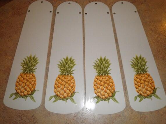 Custom Tropical Hawaiin Pineapple Ceiling Fan With Light