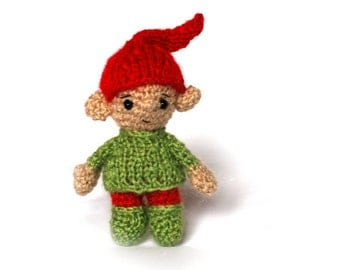 Christmas ELF, Santa's little helper, Xmas elf, crocheted elf, stuffed toys, miniature elf, Christmas stocking, winter shelf sitter elf