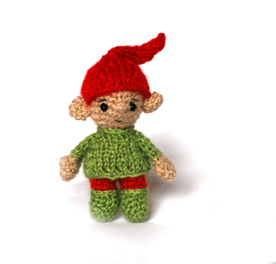 Christmas ELF Santa's little helper Xmas elf crocheted
