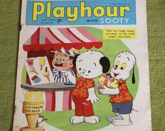 Gorgeous Vintage Sooty Newspaper Comic 20th August 1966