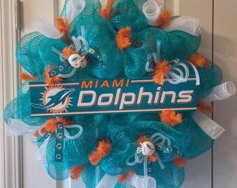 Miami Dolphins Wreath