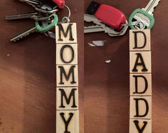 Personalized Wooden Keychains
