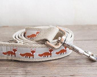 Foxy hemp dog leash, Fox hemp dog leash, Dog lead