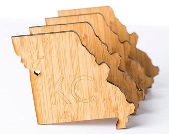 Kansas City Coasters (Kansas City and Show Me State Designs) - Set of 4