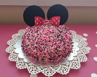 Minnie Mouse Cake Topper Set, Minnie Cake Topper