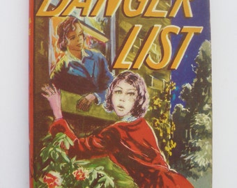 Vintage hardback Danger List by Sylvia Little Illustrations by D G Valentine 1960