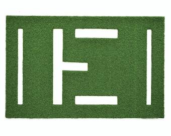 Aviator Letter Synthetic Grass Doormat | Rug | Wall Art Decor