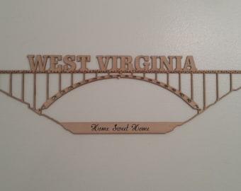 West Virginia New River Gorge Bridge Cutout