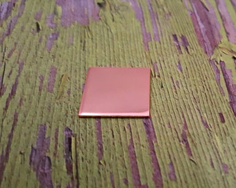 Copper 3/4 inch Square Stamping Blanks - Copper Blanks