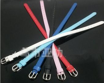 Wholesale 50pcs Adjustable Faux Leather Wristbands,Leather Slide Bracelet Straps,Faux Leather Buckle Straps,Fit 8mm Slide Charm