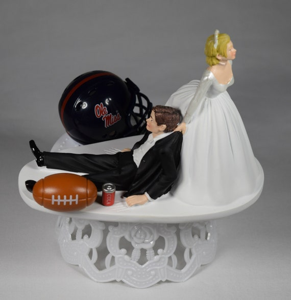 funny wedding cake toppers soccer wedding cake topper ole miss rebels college football 14606
