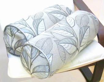 White Neckroll Decorative Pillow : Velvet neckroll bolster pillow cover 6x20 Black white