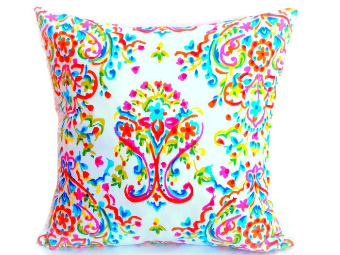 colorful throw prada pillow 20x20 pillow cover reversible. Black Bedroom Furniture Sets. Home Design Ideas