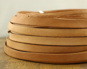 ETS-P062 light brown leather cord,wide cowhide leather,10*2 mm leather cord,bracelets supply,5 yards