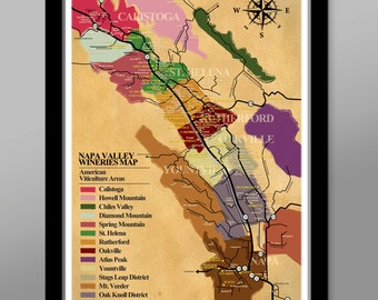 Napa Valley Wineries Poster Print 311 Home Decor