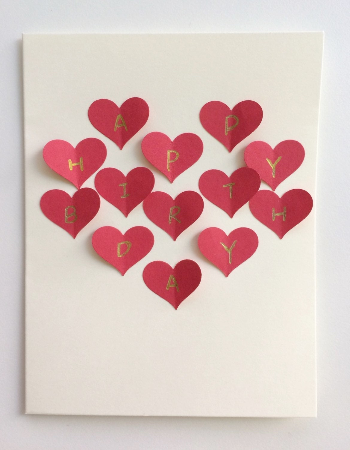 Red heart collage handmade 3d postcard card romantic gift for for Love picture ideas