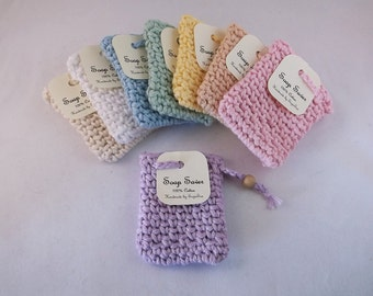 Soap saver, Crochet soap saver, Cotton soap sack,