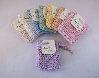 Soap saver, Crochet soap saver, Cotton soap sack,