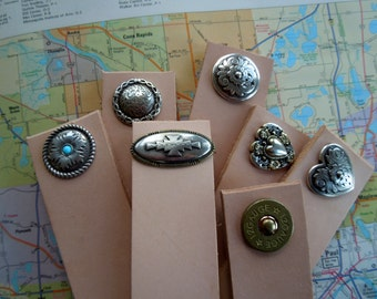 Blank leather cuffs for stamping or painting