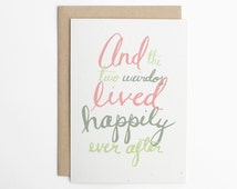 Funny Wedding Card - Happily Ever After - Wedding Card, Engagement Card, Congratulations Card, Anniversary Card, Love Card/C-135