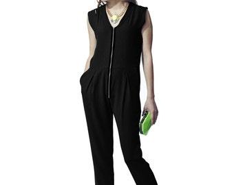 Liquorish Black Jumpsuit