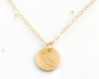 California Necklace | Gold Necklace | Layered Necklace | California Jewelry | Love | Gifts for Her