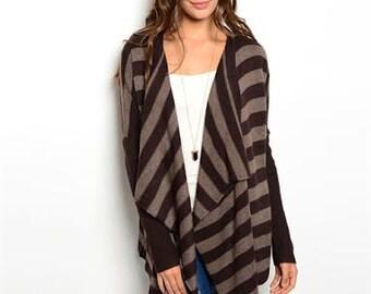 Virginia Striped Cardigan