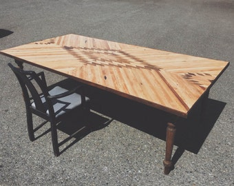 Rustic Dining Room Table - Salvaged Reclaimed Wood