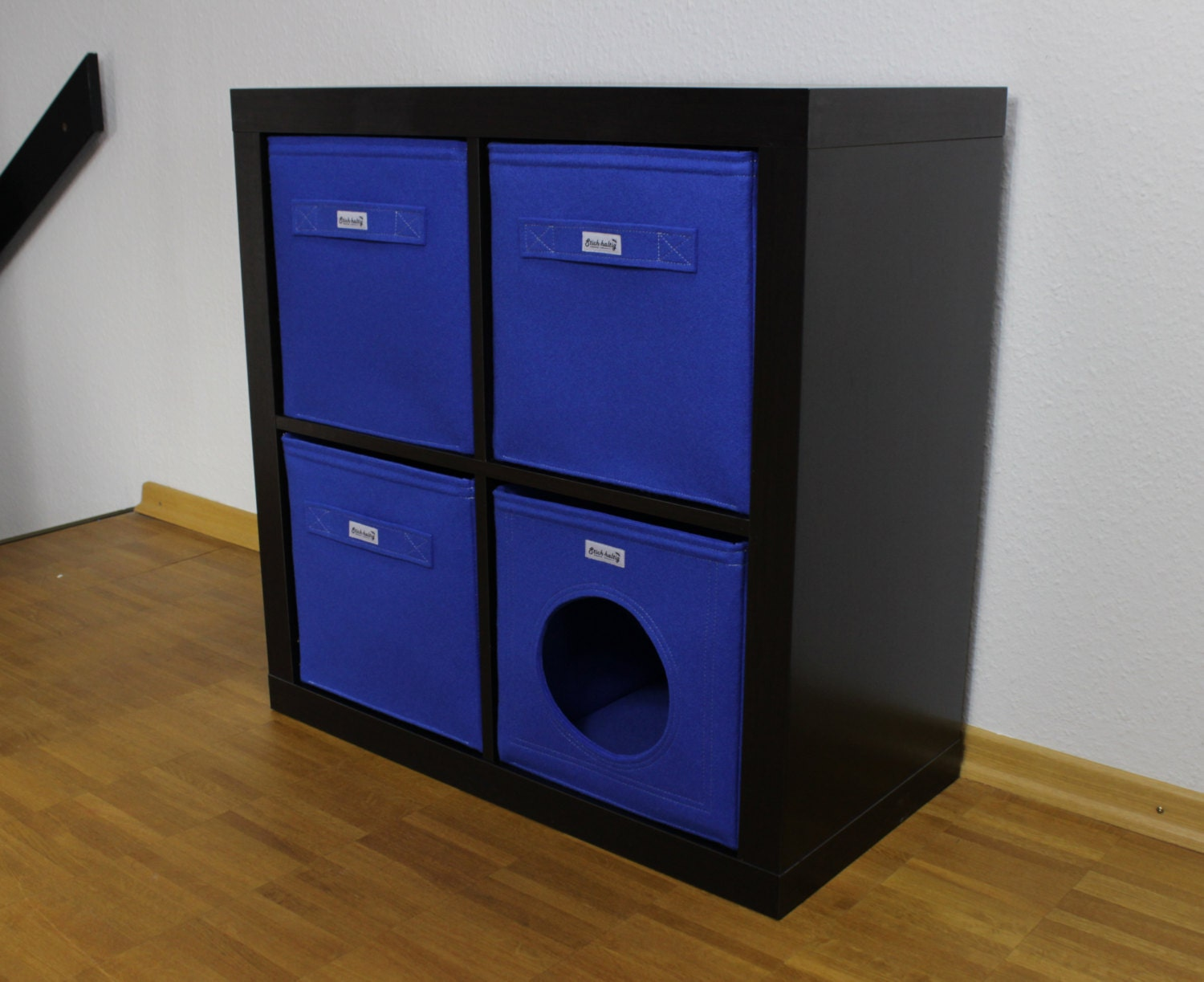 felt cat cave fits into ikea expedit and kallax by stichhaltig. Black Bedroom Furniture Sets. Home Design Ideas